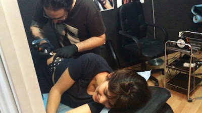 sara salamo, tatuaje, tattoo