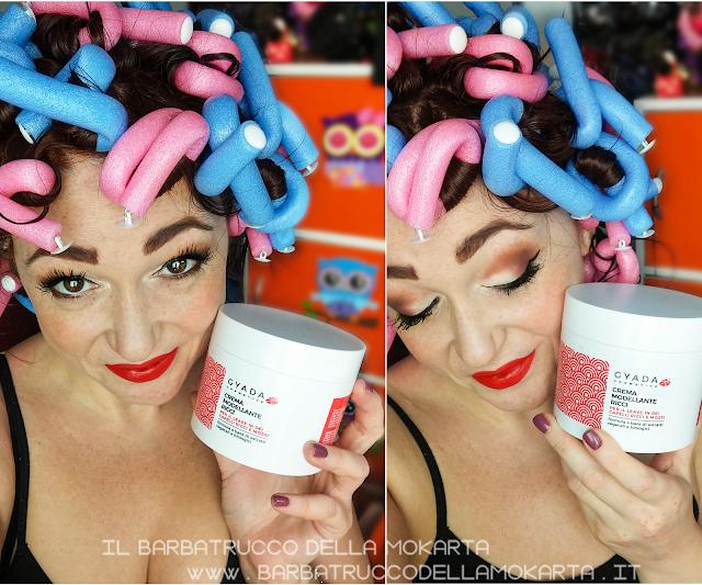 review recensione applicazione crema modellante ricci  inci gyada cosmetics, vegan bio, capelli hair routine