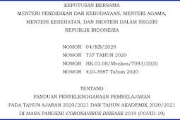 SKB 4 Menteri Tentang Panduan Penyelenggaraan Pembelajaran Tatap Muka dimasa Pandemi Covid-19
