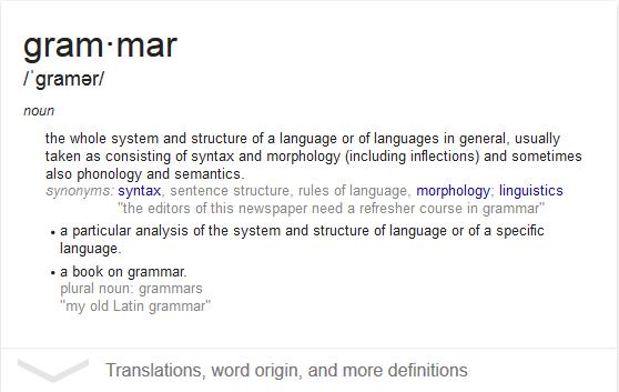 Apa Sih Grammar Itu?