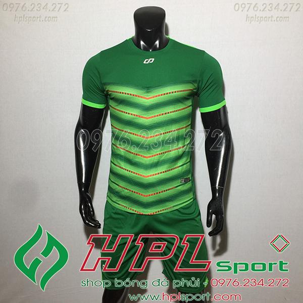 Áo ko logo CP LEG màu xanh lá