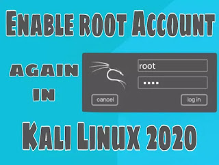 Active/Enable root user account in Kali Linux 2020