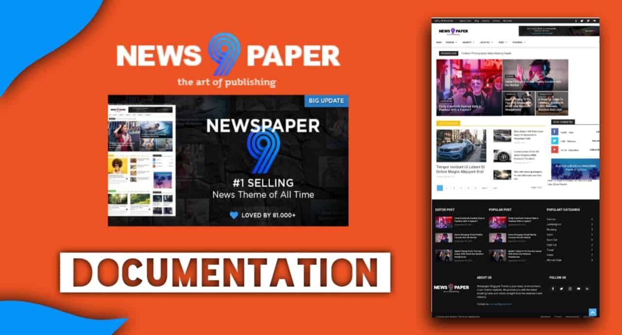 Newspaper 9 Blogger Template Documentation