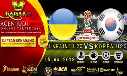 PREDIKSI BOLA TERPERCAYA UKRAINE U20 VS SOUTH KOREA U20 15 JUNI 2019
