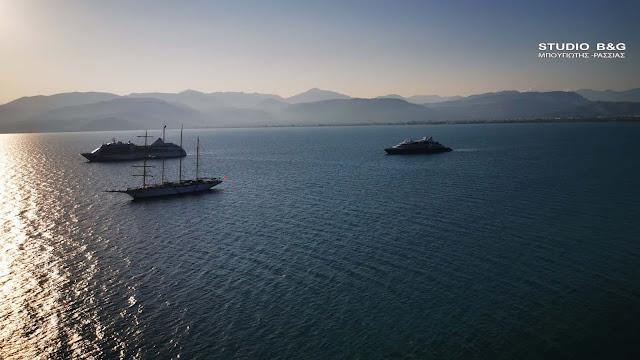 Τρία κρουαζερόπλοια σήμερα στο Ναύπλιο (βίντεο)