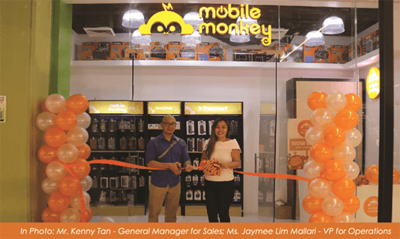 Mobile Monkey opens first store at Robinsons Galleria
