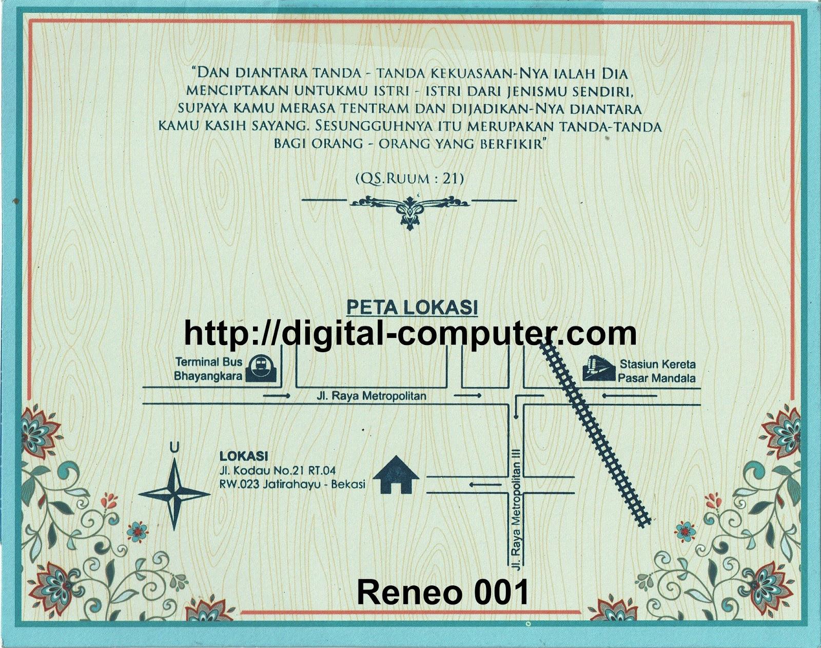 Undangan Softcover Reneo 001