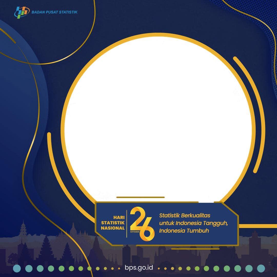 Link Download Bingkai Twibbon Selamat Hari Statistik Nasional 2021 (BPS)