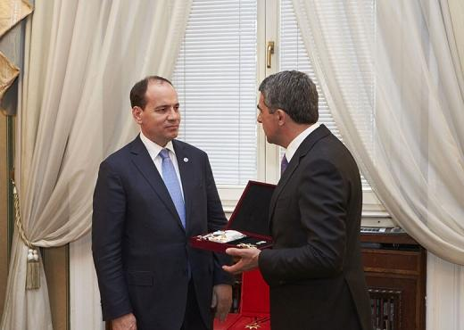 "Albanian President decorated by Bulgarian counterpart with the highest Order of ""Stara Planina"""
