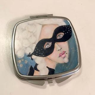 Whimsical Marie Antoinette Compact Mirror