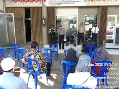 Polsek Limpung  Sosialisasikan  Tatanan Baru New Normal di Bank Jateng