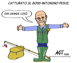 Antonino Pesce, marco minniti, boss, catturandi, arresti, vignetta, satira