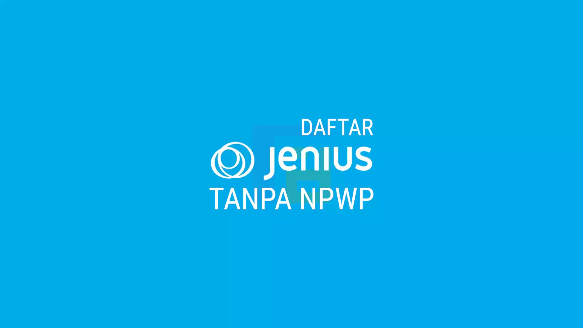 Membuat Rekening Jenius Tanpa NPWP