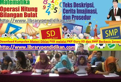 Download Kumpulan Materi Diklat PKB melalui PKP Guru SD dan SMP Berbasis Zonasi, http://www.librarypendidikan.com/