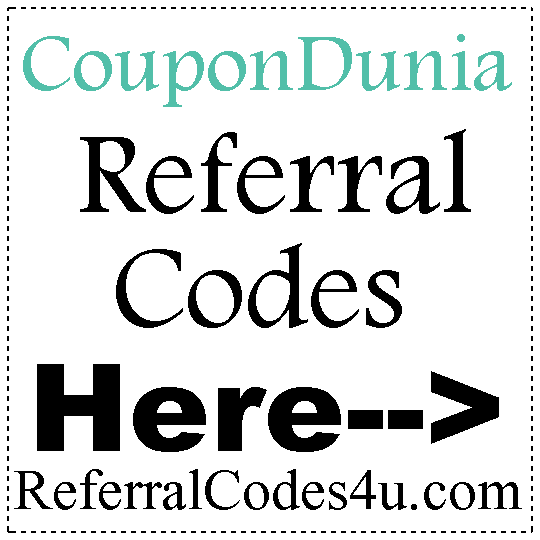 CouponDunia Referral Codes 2016-2017, CouponDunia Cashback, CouponDunia Refer A Friend