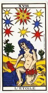 La Estrella- Arcano XVII- Tarot de Marsella