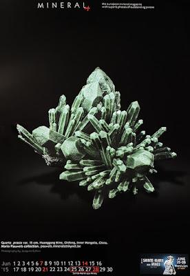 minerales, calendario, prasio, cuarzo