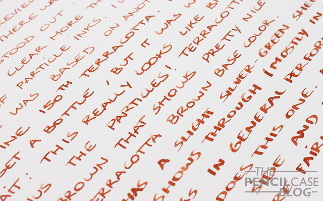 Inktastic: Diamine 150th anniversary Teracotta ink review