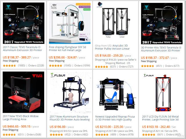 As impressoras 3D mais procuradas no AliExpress