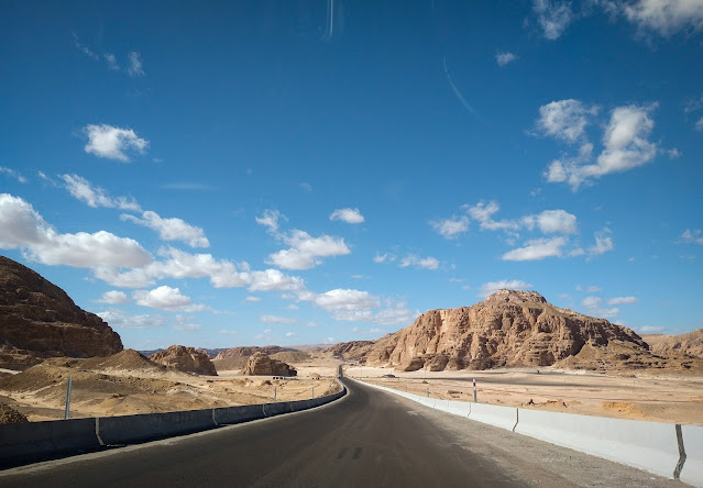 The road to St. Catherine, Egypt