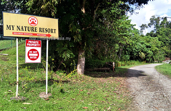 Entrance to My Nature Resort Sepilok