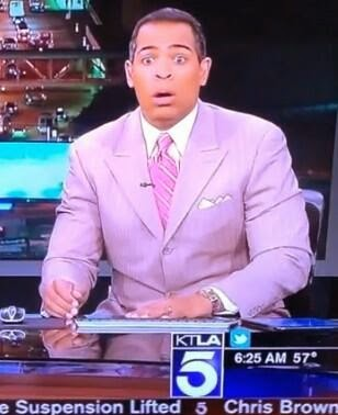 KTLA anchor Chris Schauble feels earthquake live; look hilarious