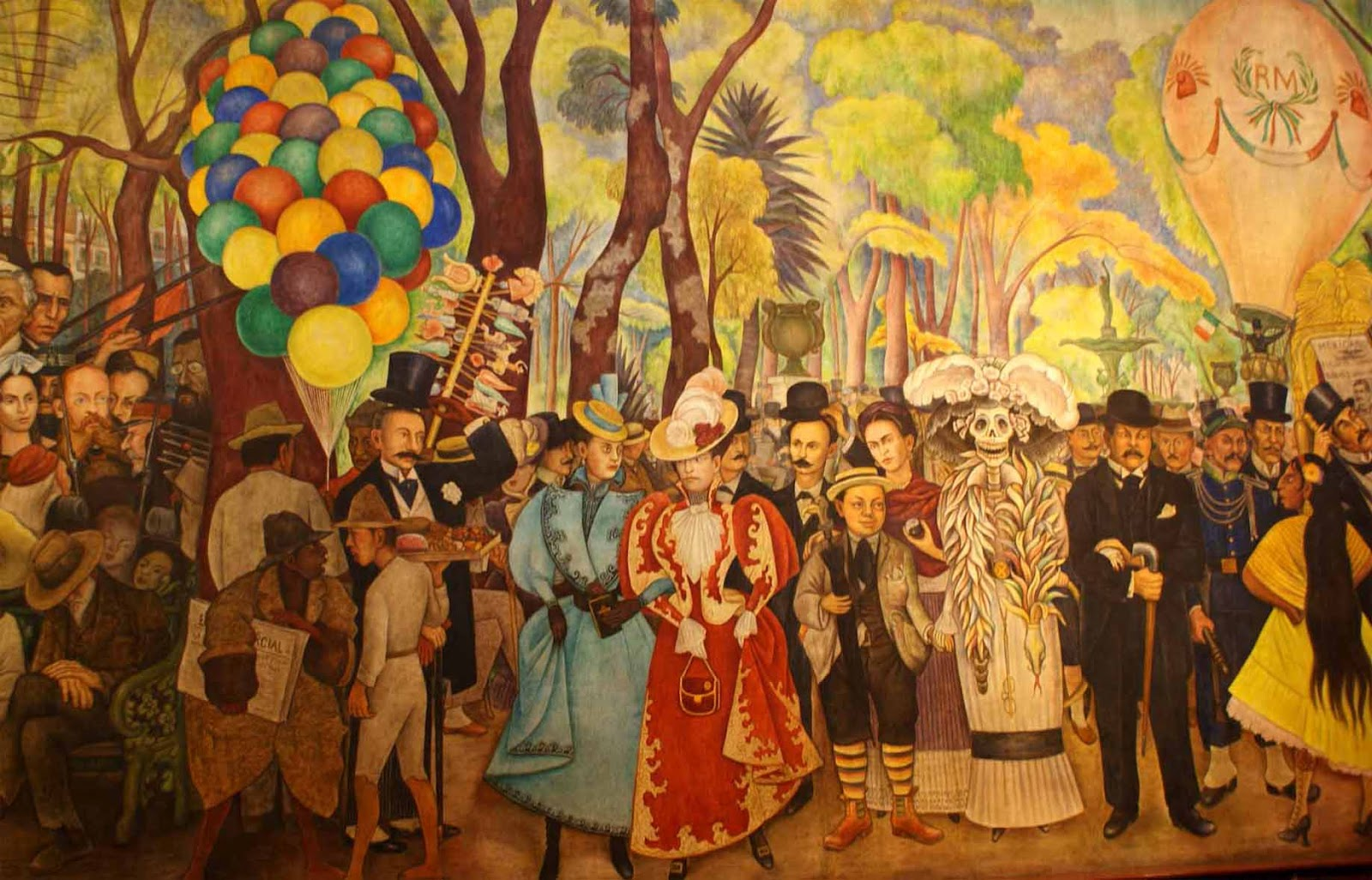 museo mural diego rivera en la alameda caminando por la