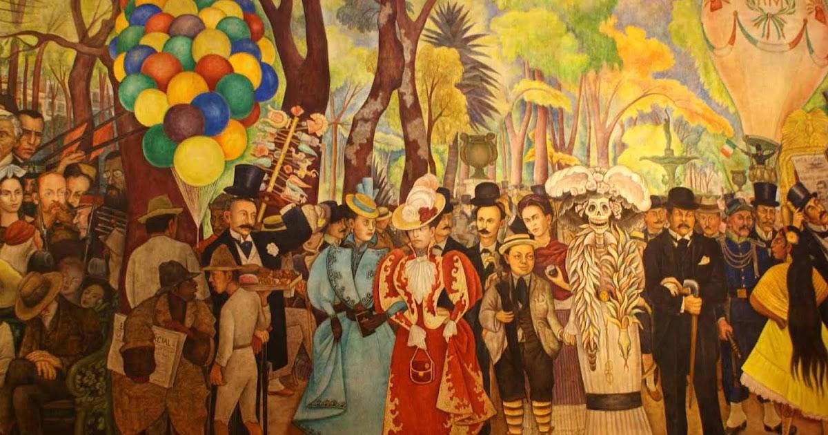 Museo mural diego rivera caminando por la ciudad for Mural de rivera