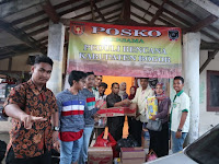 Bantuan Untuk Korban Banjir di Desa Harkat Jaya Kecamatan Sukajaya