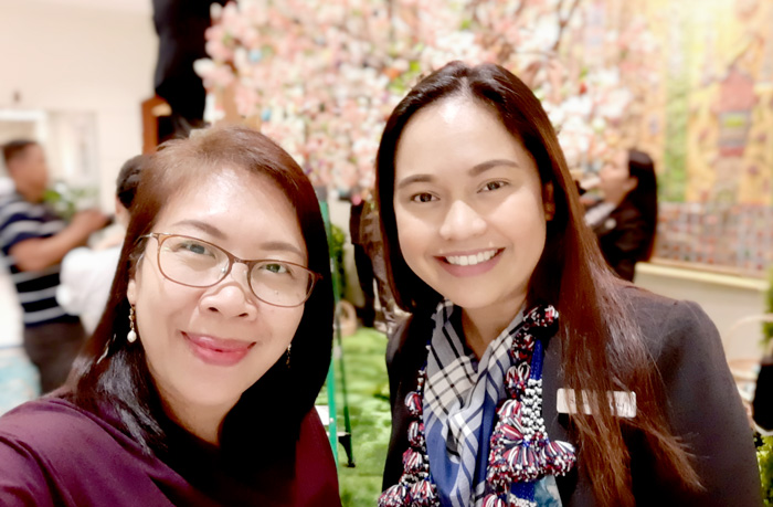With Marco Polo Davao Marketing Manager, Sarah Dayrit
