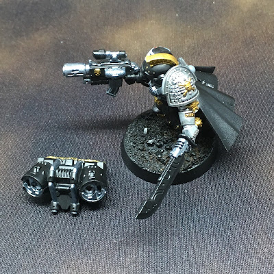 Deathwatch Watch Captain with Jump Pack WIP Left side metal details applied