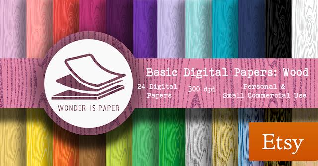 Papeles Digitales Básicos: Madera