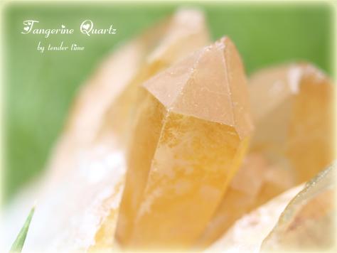 タンジェリンクォーツ オレンジ水晶 Tangerine Quartz Brazil