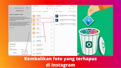 Cara mengembalikan foto yang terhapus di Instagram
