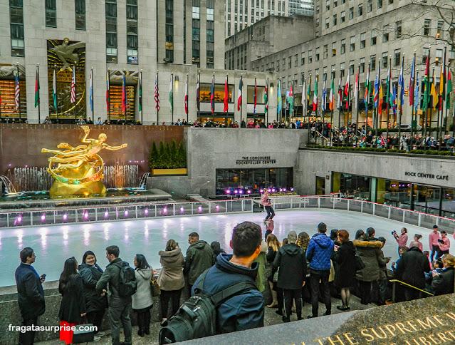 Rinque de patinação do Rockefeller Center, Nova York