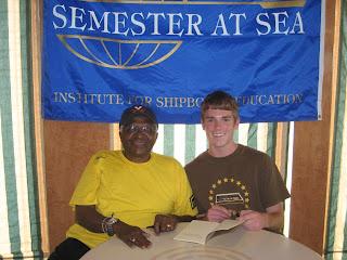 Archbishop Desmond Tutu and James