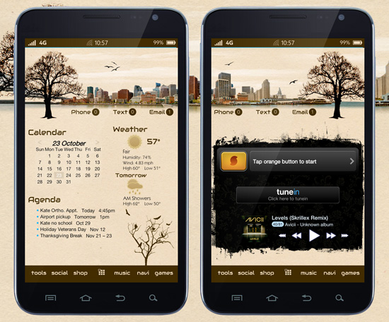 Fall android wallaper