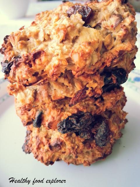 Dietetyczne ciastka owsiane z bakaliami
