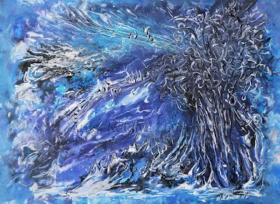 Абстрактная живопись, картина Зимняя рапсодия.