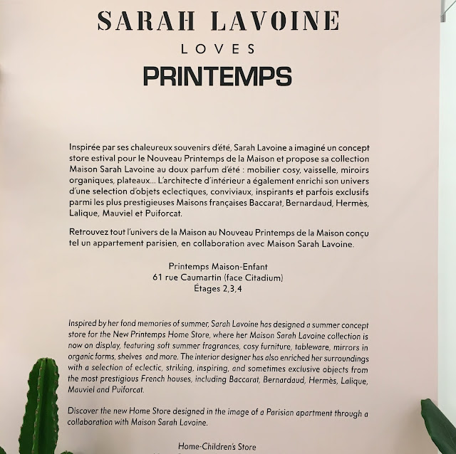Sarah Lavoine Loves Printemps / Photo Atelier rue verte /