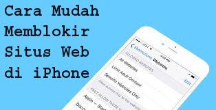 Cara Mudah Memblokir Situs Web di iPhone 1