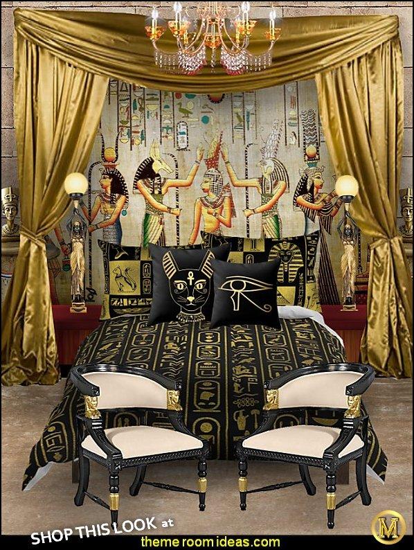 Decorating Theme Bedrooms Maries Manor Egyptian Decor