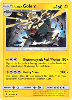 Alolan Golem Guardians Rising Pokemon Card