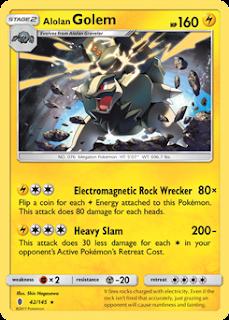 Alolan Golem Guardians Rising Pokemon Card