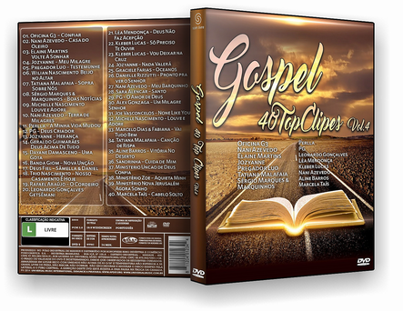 GOSPEL 40 TOP CLIPES VOL 4 2019 - DVD-R