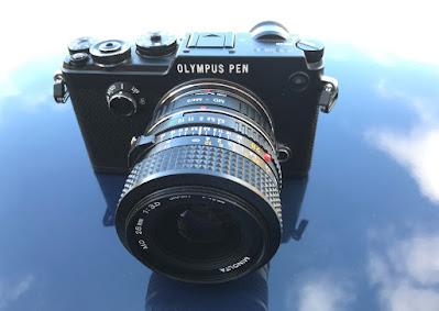 Photo of a Minolta lens on my Olympus camera