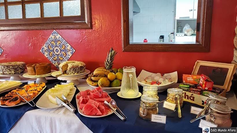 Café da manhã na Pousada Arcadia Mineira em Ouro Preto