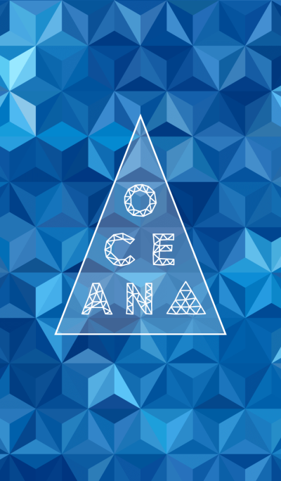 triangle ocean-blue-