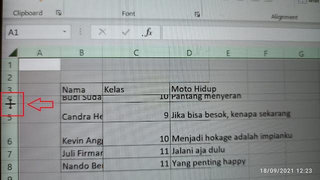 Cara Cepat Merapikan Lebar Baris dan Kolom pada Microsoft Excel