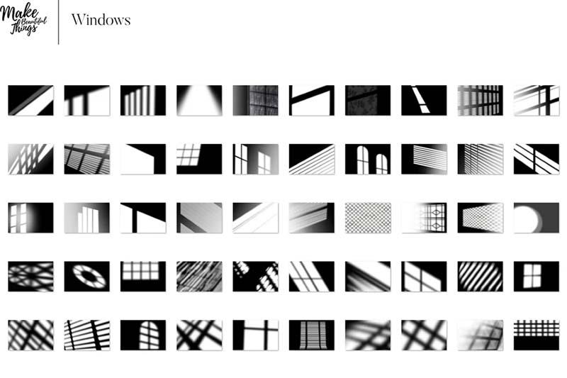 Natural Shadows Overlays Set